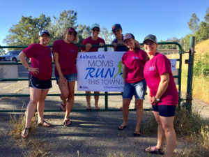 The Auburn chapter of Moms Run This Town handing out aid and energy at the Maidu Run Aid Station on May 21, 2017.